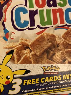 Pokemon 25th anniversary cereal general mills for Sale in Fresno,  CA