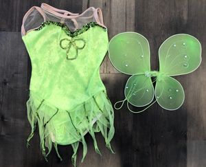 Disney Tinkerbell Green Leotard Fairy Costume w/Wings, Size Medium for Sale in Santa Ana, CA