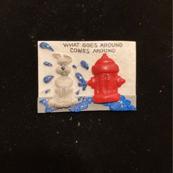 Vintage Dog/fire Hydrant - Comedy Pin-brooch - Like New- Acrylic - #artssoflo for Sale in Miami,  FL