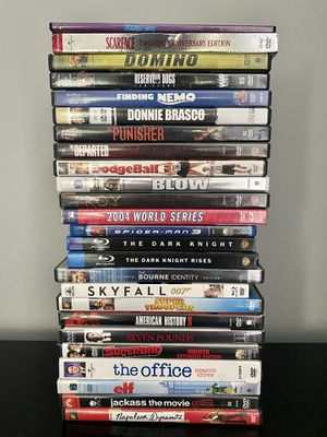 Stack of Assorted Movies (DVDs) for Sale in Charlotte, NC