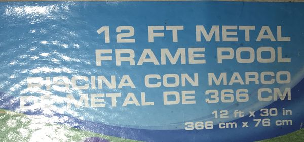 12ft metal frame pool