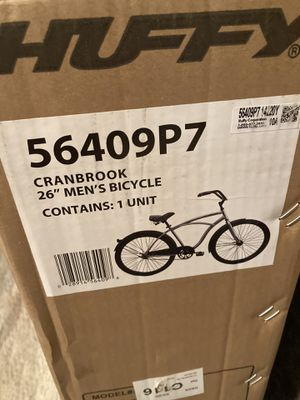 "Mens Huffy Cranbrook 26"" Silver Beach Cruiser Bike for Sale in Springfield, PA"