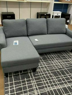 Jarreau Gray Sofa Chaise Sleeper 💗Sofa ♥️ Couch for Sale in Round Rock,  TX