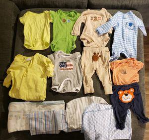 BABY BOY CLOTHES & BLANKETS for Sale in Warren, MI