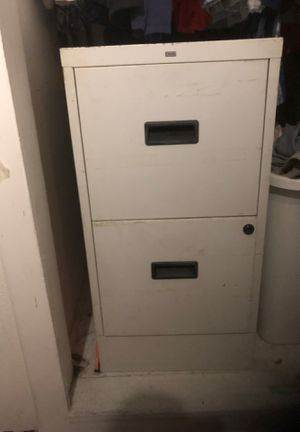 Two drawer file cabinet… Standard size… With hanging file folders and tabs for Sale in Garden Grove, CA