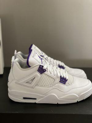 Jordan retro 4-metallic purple-DS w/ receipt for Sale in Easton, MA