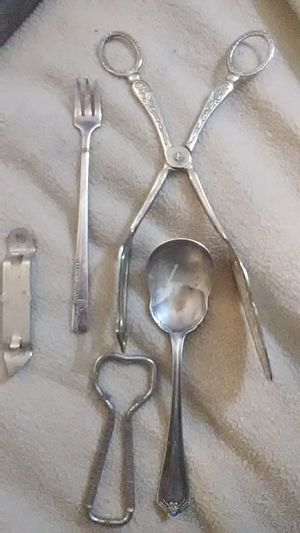Old silver kitchen utensils for Sale in Taylor, MO