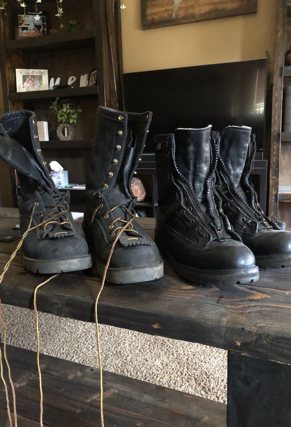 Danner Fire Fighter Boots Zip Up Station And Wildland For
