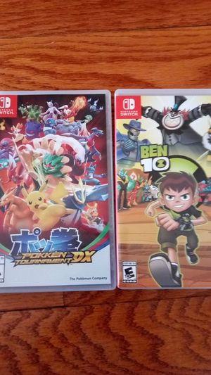 2 Nintendo Switch games ( Ben ten and Pokemon XD tournament) for Sale in Fairfax, VA