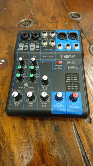 Yamaha MG06 6-Input Compact Stereo Mixer for Sale in Portland, OR