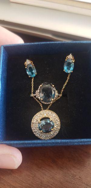 10 k London blue topaz set for Sale in San Jose, CA