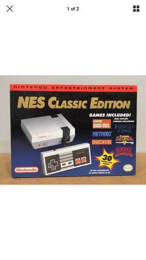 NINTENDO NES CLASSIC EDITION(BRAND NEW BOX SEALED) for Sale in Dallas, TX