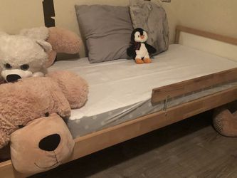 Ikea Twin Bed With Toddler Mattress And New Bed Sheets for Sale in San Jose,  CA