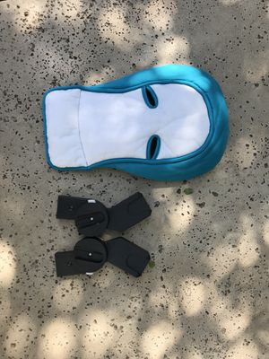 CYBEX Aton infant car seat in blue with black base, with infant insert and stroller adapters for Sale in Austin, TX