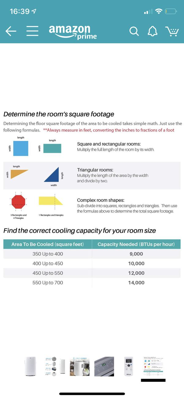 DELLA Portable Heater, Dehumidifier & Air Conditioner