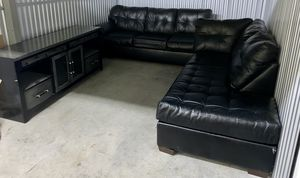 Two Piece Leather Sectional (Great Condition) for Sale in Philadelphia, PA
