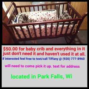Baby crib for Sale in WI, US