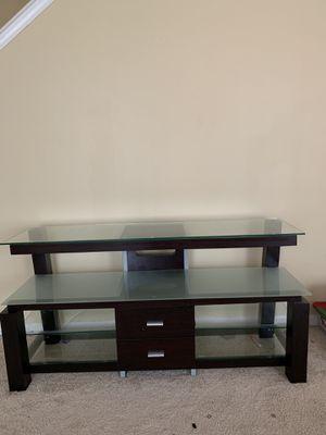 American Signature Furniture Glass TV Console Table for Sale in College Park, GA