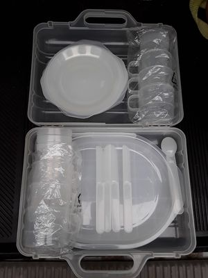 Cool transparent plastic camping dishware set for Sale in Gulfport, MS