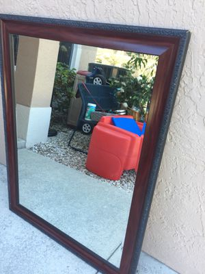 Large wall hanging mirror 36x46 hang either way for Sale in Davie, FL