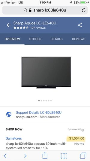 "60"" inch Sharp Smart TV w/ Free Roku Stick for Sale in Aspen Hill, MD"