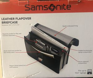 Samsonite leather briefcase for Sale in Queens, NY