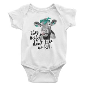 "Baby Bodysuit/Onesie ""This Heifer Don't Take No Bull"" for Sale in New Port Richey, FL"