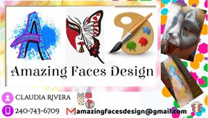 Amazing Faces design its offer : face painting glitter tattoo and balloons twisting for Sale in Wheaton, MD