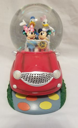 WALT DISNEY MICKEY MOUSE AND DONALD DUCK RED CAR WATER GLOBE for Sale in Scottsdale, AZ