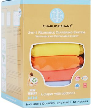 """CHARLIE BANANA """"Clothe Diapers w/ inserts"""" for Sale in Franklin, MA"""