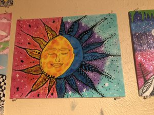 Sun and moon painting for Sale in Dallas, TX