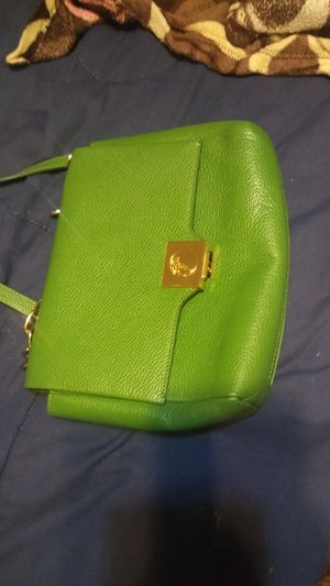 Versace lemon lime color purse leather bag it is verified for Sale in Houston, TX
