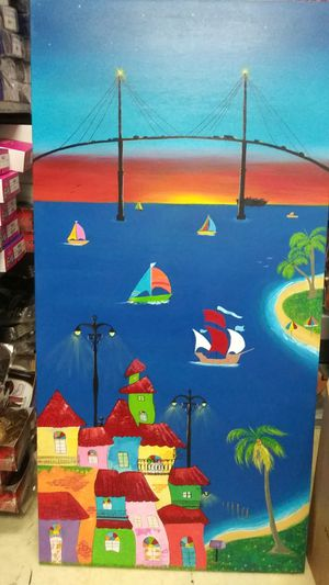 """Sunset acrylic on canvas 34x68"""" for Sale in Tampa, FL"""
