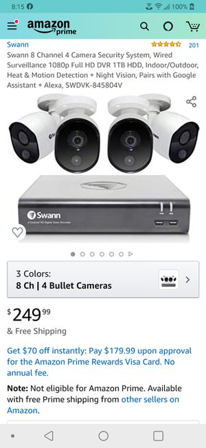 Swann 4 camera WIRED security system with Wi-Fi for Sale in Berkeley Springs, WV