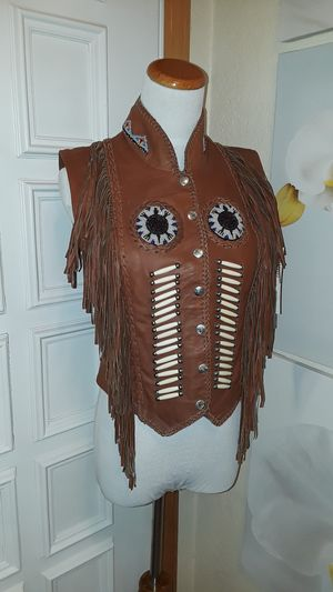 Indian motorcycle leather riding vest / Native American New* for Sale in Puyallup, WA