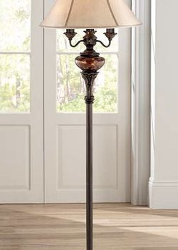 Bronze Tortoise Shell Font Floor Lamp by Barnes and Ivy for Sale in Mansfield,  TX