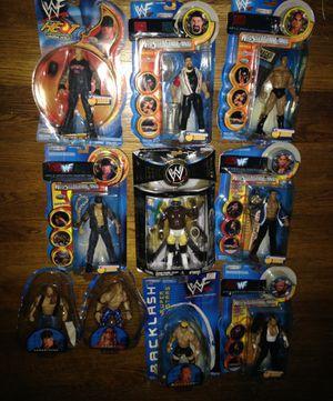 WWF The Rock Undertaker Wrestlemania Classic Superstars Backlash Toys WWE Koko B Ware Edge Tazz Billy Gunn Mick Foley action figures for Sale in Houston, TX