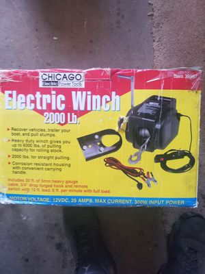 Electric winch never used for Sale in Manchester, PA