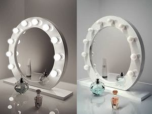 """New $220 White 28"""" Vanity Mirror w/ 10 Dimmable LED Light Bulbs, Hollywood Beauty Makeup USB Outlet for Sale in Whittier, CA"""