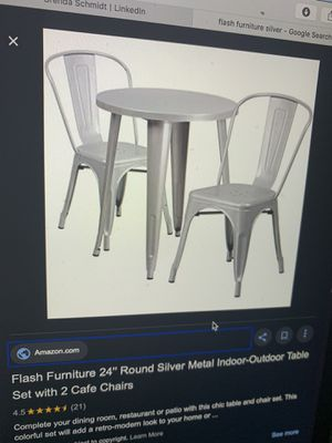 New in box Silver Metal table with chairs for Sale in Phoenix, AZ