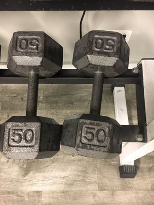 50 lb dumbbell pair for Sale in Aurora, IL