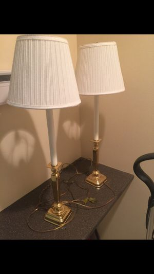 Candle stick brass lamps! for Sale in Olney, MD
