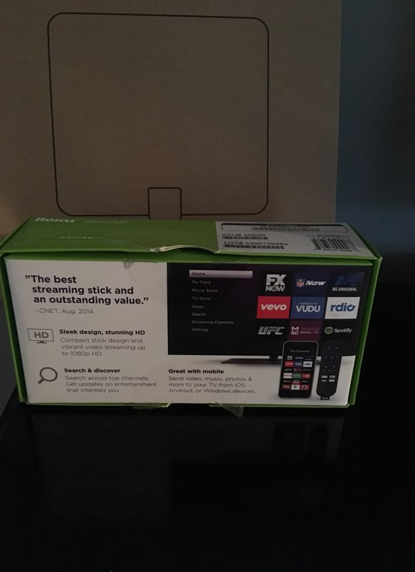 Roku streaming stick with hdtv antenna with amplifier
