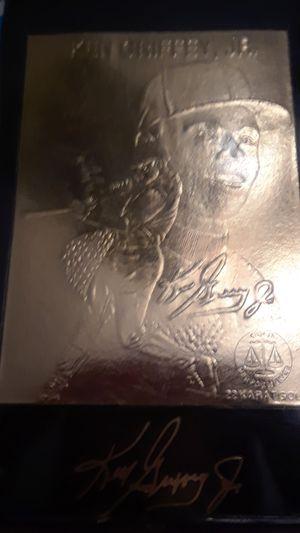 22 karat gold 1996 edition Ken griffy, jr. Baseball card for Sale in Auburndale, FL