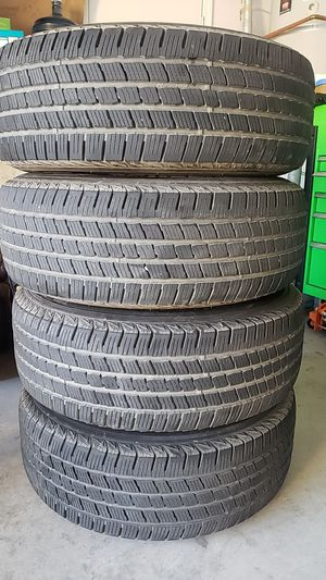 4 tires and wheels for GMC Sierra 1500 6 lug, P265/70R17 for Sale in Escondido, CA
