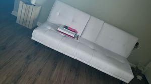 White faux leather futon for Sale in Tampa, FL