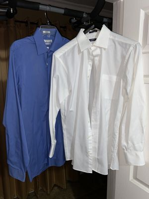 2 dress shirts blue and white for Sale in Whittier, CA