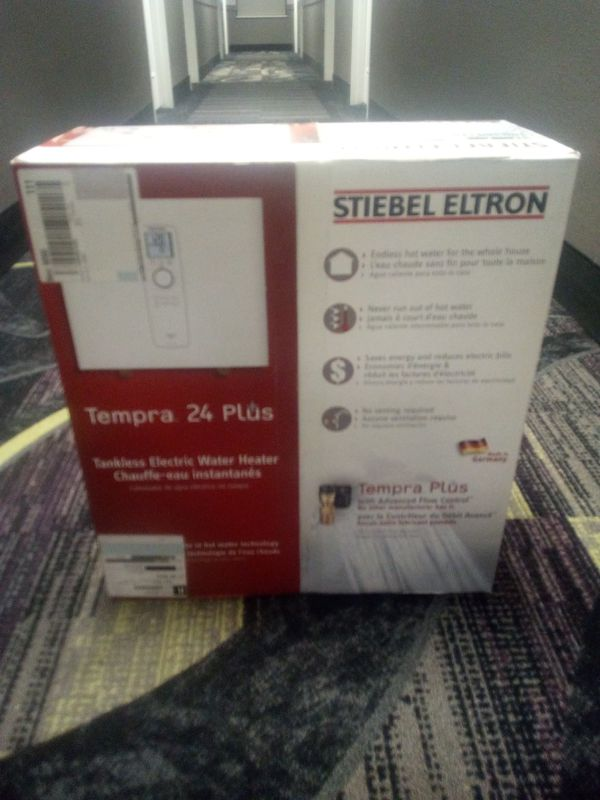 "Stiebel Eltron Tankless Water Heater ""Tempra 24 Plus"" BRAND NEW * rated #1 overall"