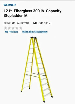 Werner 12 ft. Fiberglass 300 lb. Capacity Stepladder IA for Sale in Imperial, MO