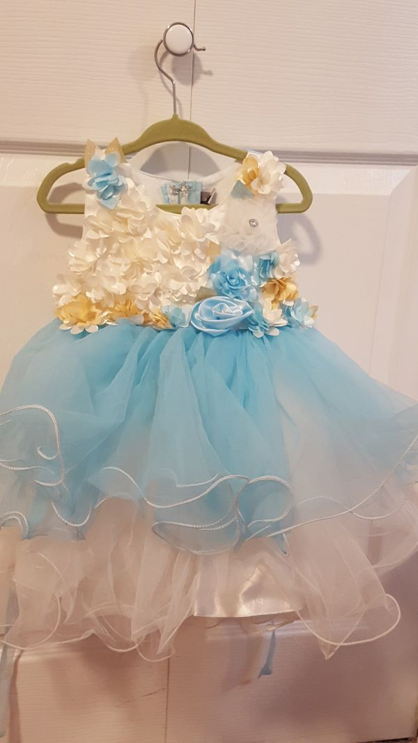 12-24 months old baby girls party dress